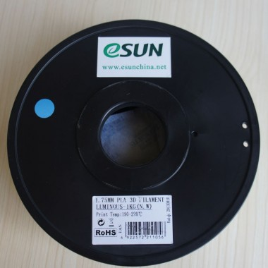 Катушка PLA-пластика ESUN 1.75 мм 1кг., светящаяся зеленая