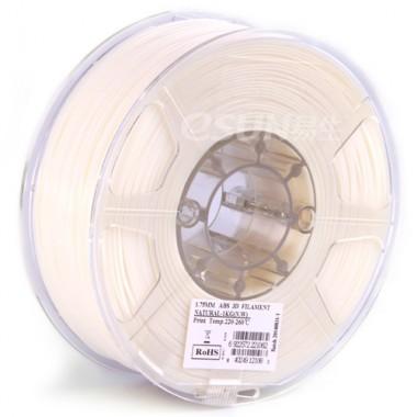 Катушка ABS-пластика ESUN 1.75 мм 1кг., натурально-белая (ABS175N1)