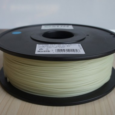 Катушка ABS-пластика ESUN 1.75 мм 1кг., светящаяся зеленая