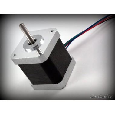 Шаговый двигатель nema 17 для 3D принтера Felix, with 1,5 wires, short motor, flat shaft